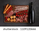 appetizers table with... | Shutterstock . vector #1109120666
