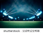 lights at night and stadium 3d... | Shutterstock . vector #1109121908