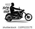 biker riding a motorcycle.... | Shutterstock .eps vector #1109122175