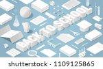 vector isometric back to school ... | Shutterstock .eps vector #1109125865