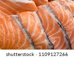 salmon with black pepper and... | Shutterstock . vector #1109127266