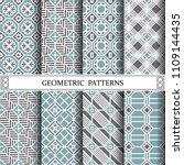octagon geometric vector... | Shutterstock .eps vector #1109144435