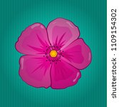 stylish wallpaper with cosmos... | Shutterstock .eps vector #1109154302