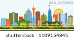 san antonio texas skyline with... | Shutterstock .eps vector #1109154845
