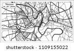 verona italy city map in retro... | Shutterstock .eps vector #1109155022