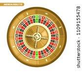 illustration of roulette wheel  ... | Shutterstock . vector #1109155478