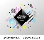vector illustration of abstract ... | Shutterstock .eps vector #1109158115