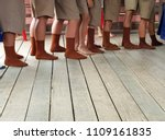 brown and white student socks... | Shutterstock . vector #1109161835