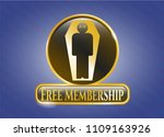 gold emblem with dead man in... | Shutterstock .eps vector #1109163926