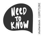 need to know. sticker for... | Shutterstock .eps vector #1109171282