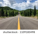 road down the mountain in... | Shutterstock . vector #1109183498