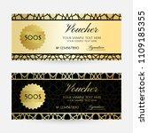 gold arabian texture. gift... | Shutterstock .eps vector #1109185355