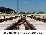 construction of railway tracks  ... | Shutterstock . vector #1109189912
