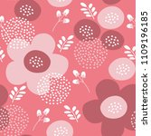 vector seamless floral pattern. ... | Shutterstock .eps vector #1109196185