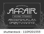 vector elegant font set named ... | Shutterstock .eps vector #1109201555