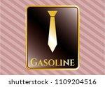 gold shiny badge with necktie ... | Shutterstock .eps vector #1109204516