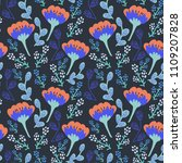 semless pattern with decorative ...   Shutterstock .eps vector #1109207828