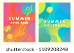 unique artistic summer cards... | Shutterstock .eps vector #1109208248
