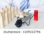 group dismissals from work... | Shutterstock . vector #1109212796
