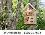 insect house in a summer garden ... | Shutterstock . vector #1109227535