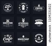 vintage retro vector logo for... | Shutterstock .eps vector #1109231822
