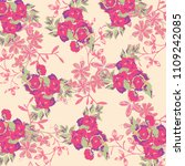 cute floral pattern in the... | Shutterstock .eps vector #1109242085