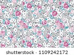 cute floral pattern in the... | Shutterstock .eps vector #1109242172