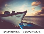 dolphin drawing on boat on the... | Shutterstock . vector #1109249276