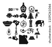 feature icons set. simple set... | Shutterstock .eps vector #1109261066