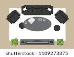 vector illustration. living... | Shutterstock .eps vector #1109273375