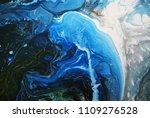 creative blue abstract hand... | Shutterstock . vector #1109276528