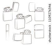 metal windproof lighter....   Shutterstock .eps vector #1109276546