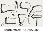 hand drawn speech bubbles.... | Shutterstock . vector #110927882