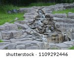 waterfall over rocks | Shutterstock . vector #1109292446