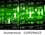 various type of financial and... | Shutterstock . vector #1109296625