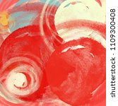 abstract painting on canvas.... | Shutterstock . vector #1109300408