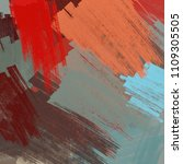 abstract painting on canvas.... | Shutterstock . vector #1109305505