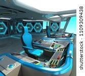 A Futuristic Ship Cutting...