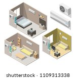 isometric air conditioning... | Shutterstock .eps vector #1109313338