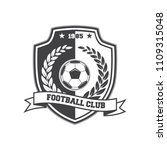 football vintage soccer logo... | Shutterstock .eps vector #1109315048
