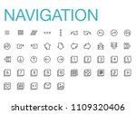 modern flat navigation icon set | Shutterstock .eps vector #1109320406