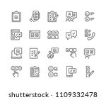 simple set of survey related... | Shutterstock .eps vector #1109332478