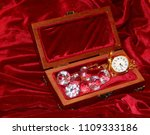 a handmade mahogany casket with ...   Shutterstock . vector #1109333186