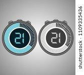 electronic digital stopwatch.... | Shutterstock .eps vector #1109335436