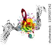 music colorful background with... | Shutterstock .eps vector #1109337242