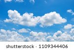 sky and cloud  good weather day ... | Shutterstock . vector #1109344406