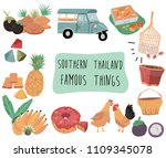 thailand travel element with... | Shutterstock .eps vector #1109345078