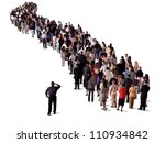 group of people waiting in line ... | Shutterstock . vector #110934842