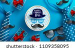 flat lay style of happy father... | Shutterstock .eps vector #1109358095