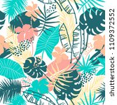 seamless exotic pattern with... | Shutterstock .eps vector #1109372552